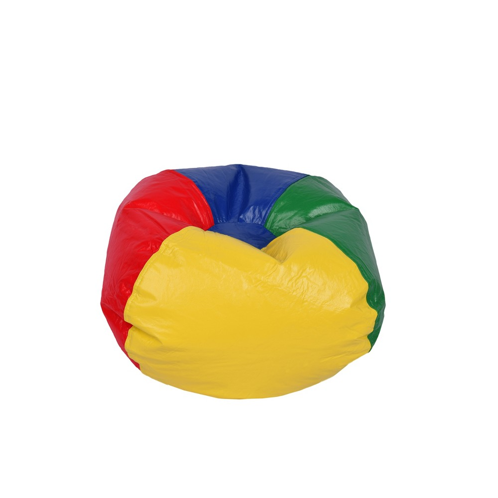 "Image of 96"" Round Vinyl Shiny Bean Bag, Available in Multiple Colors"