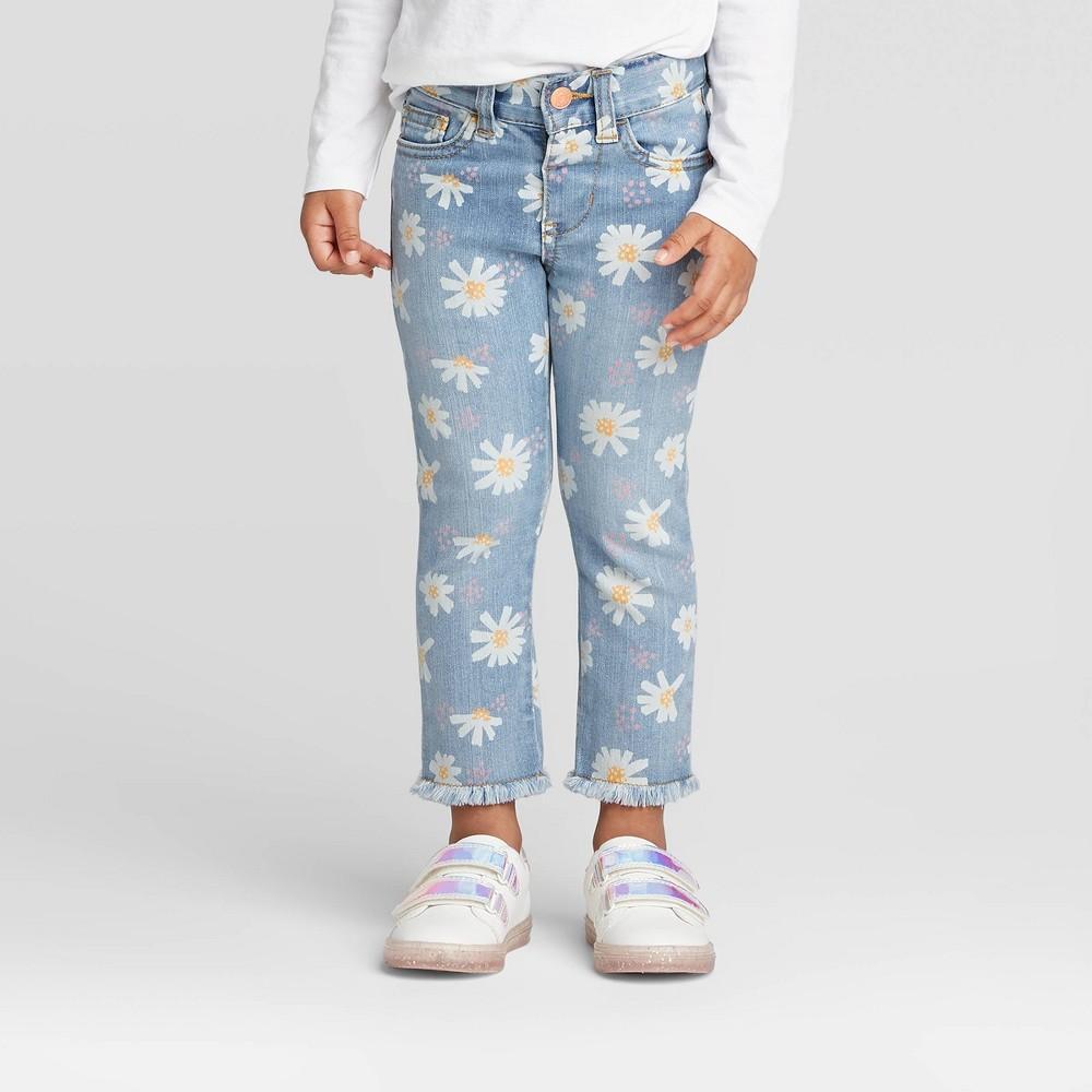 60s 70s Kids Costumes & Clothing Girls & Boys Toddler Girls39 Daisy Print Skinny Jeans - Cat 38 Jack8482 $10.00 AT vintagedancer.com