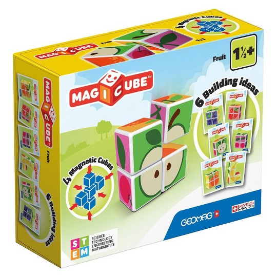 Geomag Magicube Fruit, magnetic building sets image number null