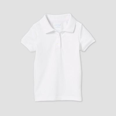 Toddler Girls' Short Sleeve Stretch Pique Uniform Polo Shirt - Cat & Jack™
