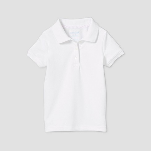 Toddler Girls' Short Sleeve Stretch Pique Uniform Polo Shirt - Cat & Jack™ - image 1 of 2