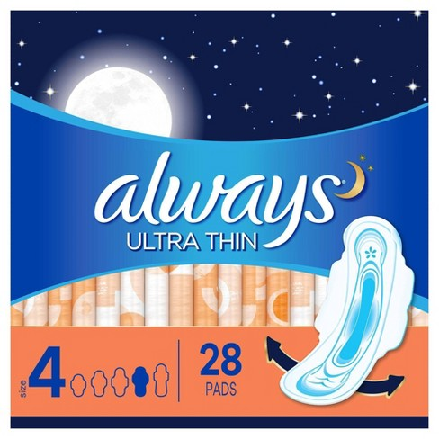 Always Ultra Thin Overnight Pads - image 1 of 4