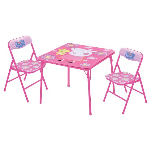 Peppa Pig 3 Piece Kids Table And Chair Set