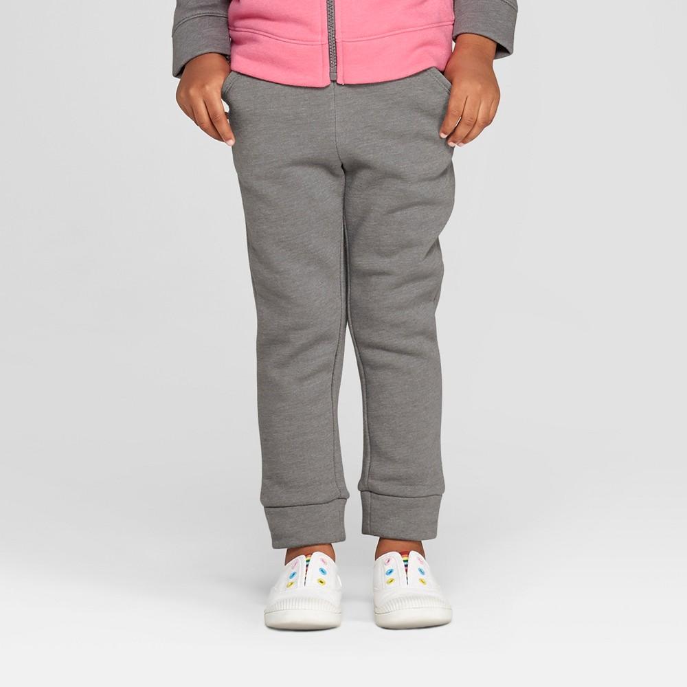 Toddler Girls' Fleece Jogger Pants - Cat & Jack Gray 18M