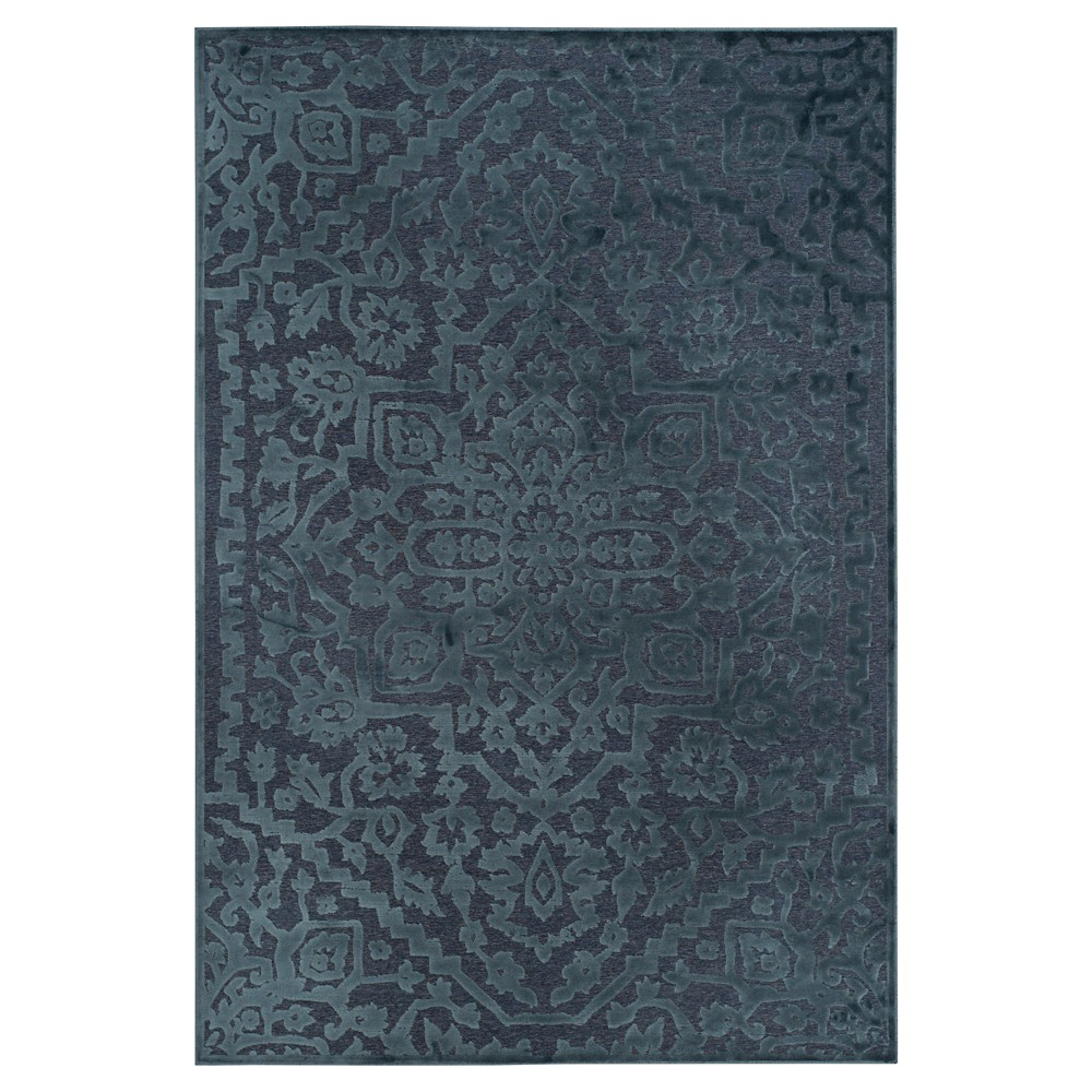 Navy (Blue) Abstract Loomed Area Rug - (5'3