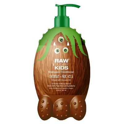 Raw Sugar Kids' 2-in-1 Coconut + Aloe Vera Shampoo & Conditioner - 12 fl oz