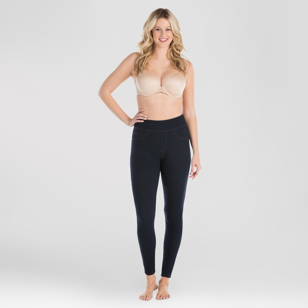 Image of Assets By Spanx Women's Jean-Look Leggings - Indigo 1X, Size: 1XL, Blue
