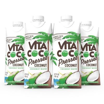 Vita Coco Pressed Coconut - 4pk/16.9 fl oz Tetra Pak
