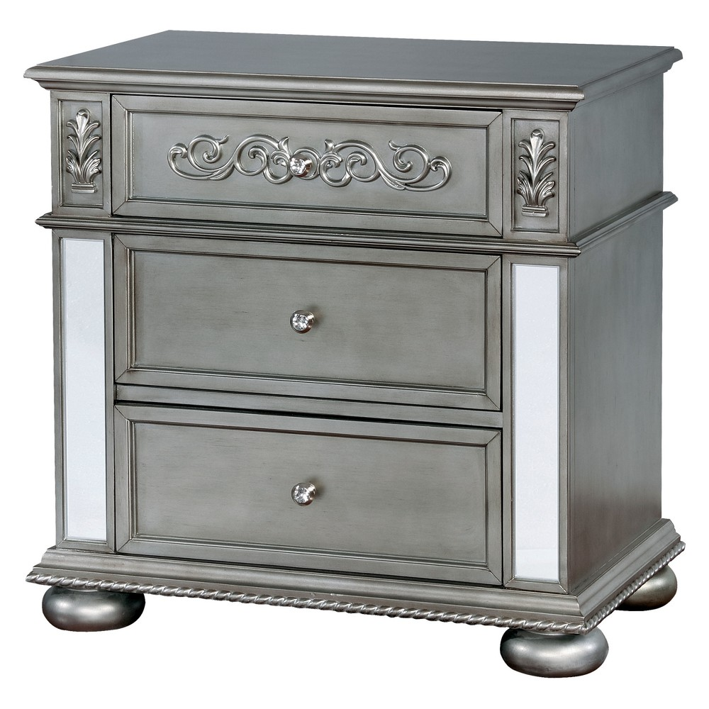 Iohomes Divito Traditional Felt Lined Top Drawer Nightstand - Homes: Inside + Out