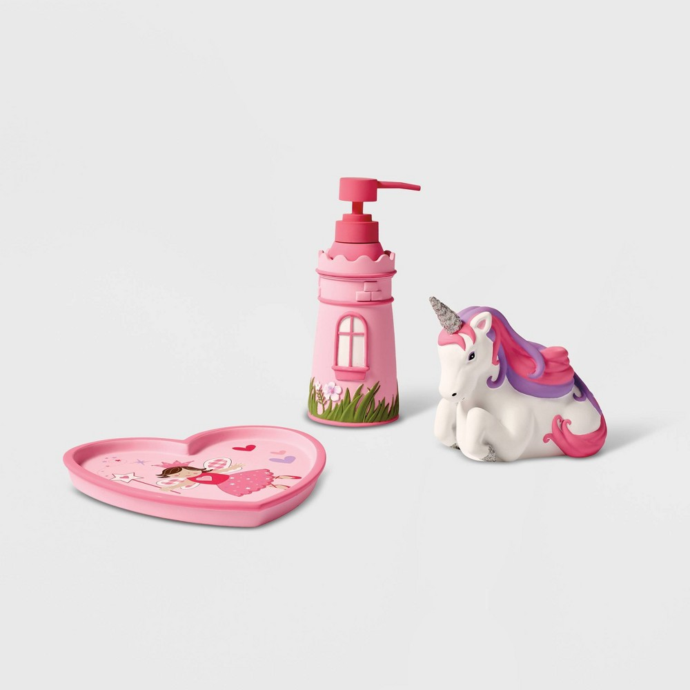 Image of 3pc Magical Princess Bath Accessories - Dream Factory