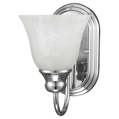"5.5"" Windgate One Light Wall / Bath Sconce Chrome - Sea Gull Lighting"