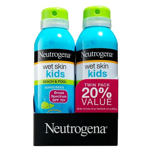 Neutrogena Wet Skin Kids Sunscreen Spray Twinpack - SPF 70 - 5oz - image 1 of 1