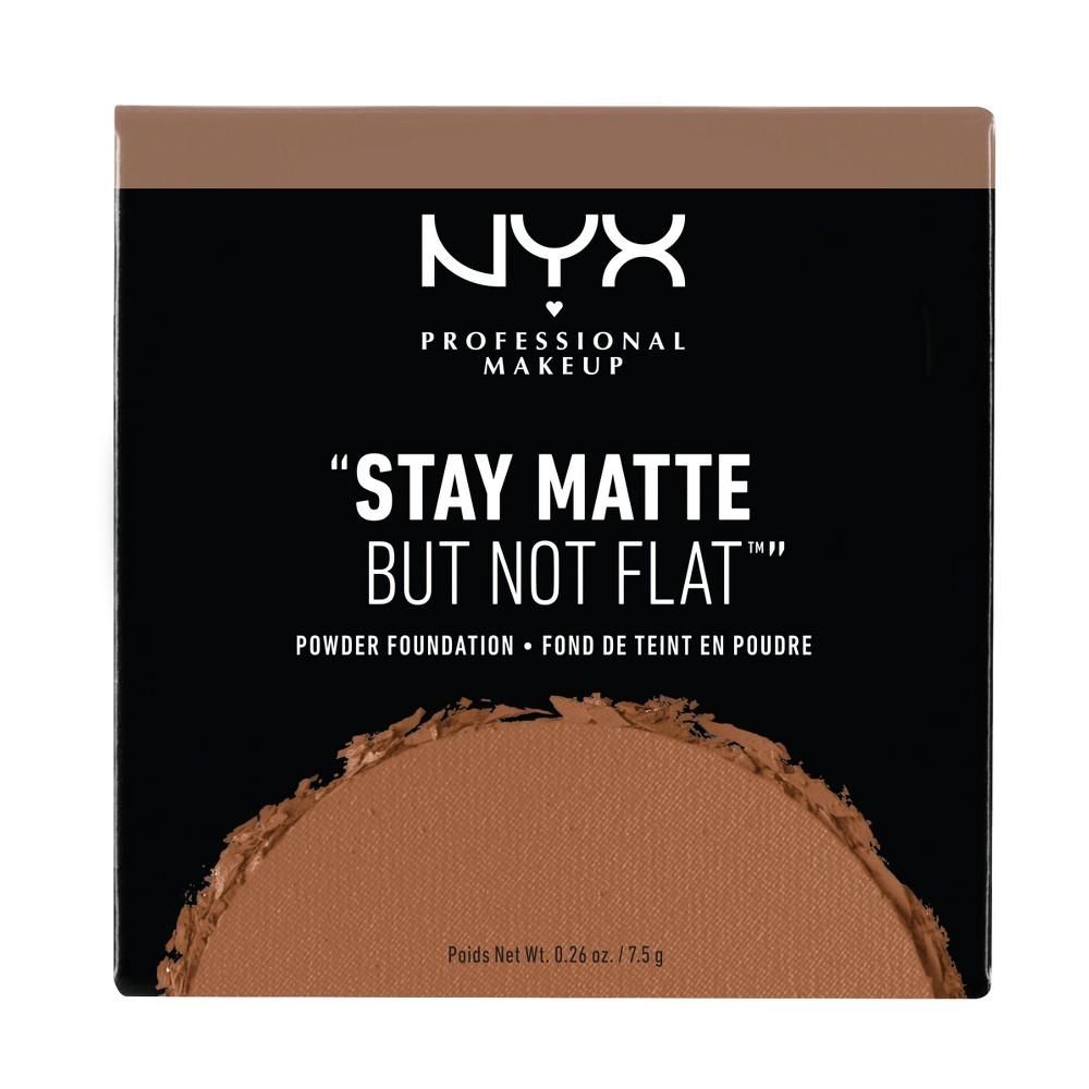 Nyx Professional Makeup Stay Matte But Not Flat Powder Foundation Deep Dark - 0.26oz