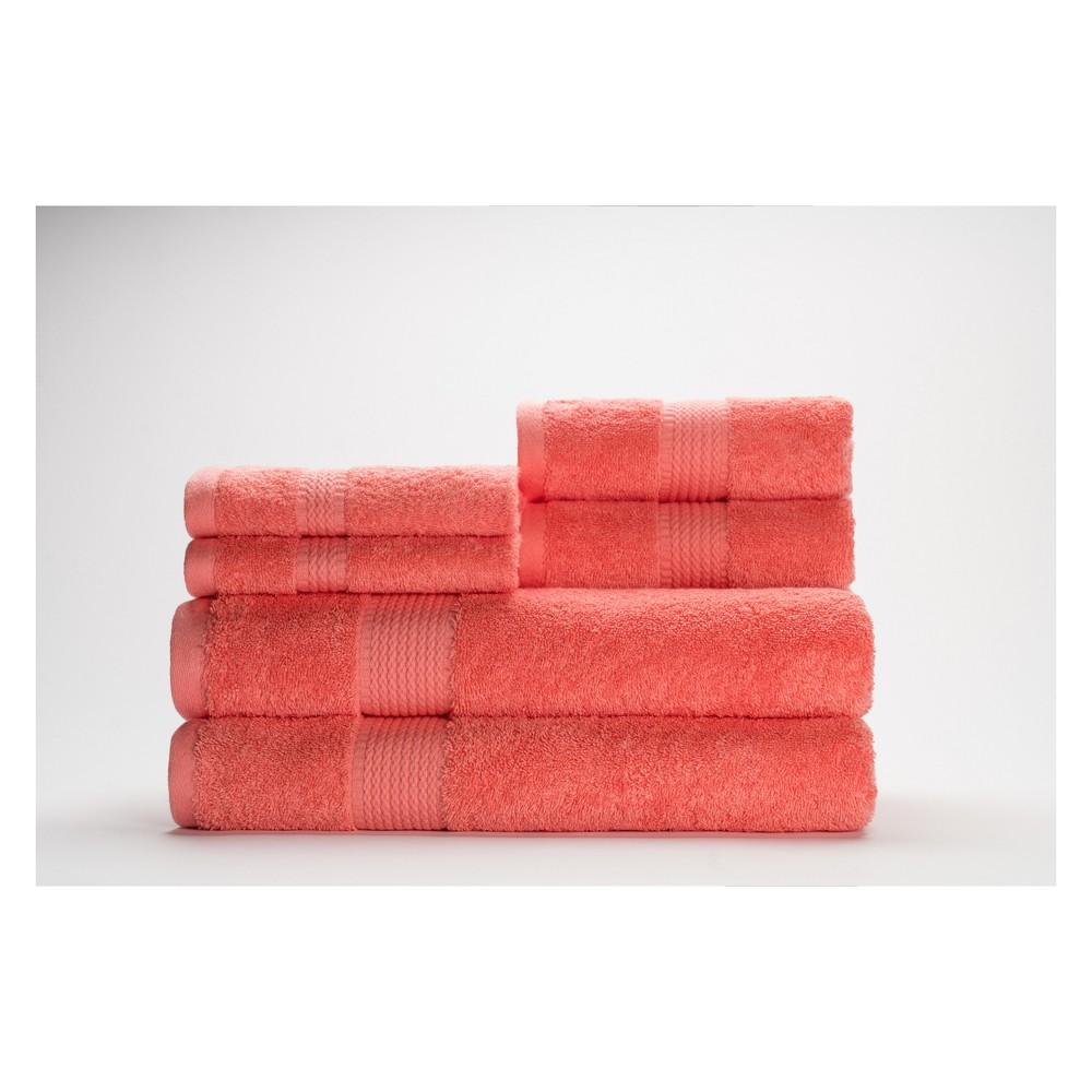 Image of 6pc Cromwell Mimosa Bath Towels Sets Dark Orange - Caro Home