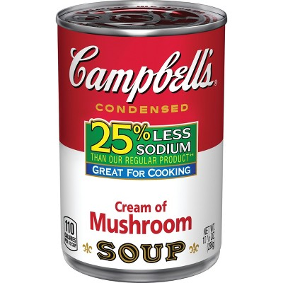 Soup: Campbell's 25% Less Sodium
