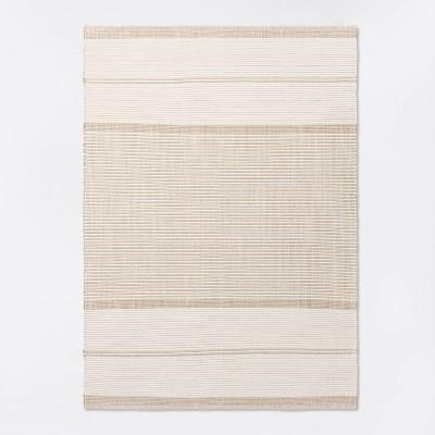 5'x7' Marina Hand Woven Striped Wool Cotton Area Rug Cream - Threshold™ designed with Studio McGee