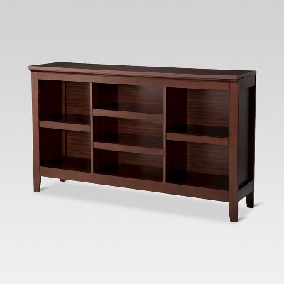 "32"" Carson Horizontal Bookcase with Adjustable Shelves Chestnut - Threshold™"