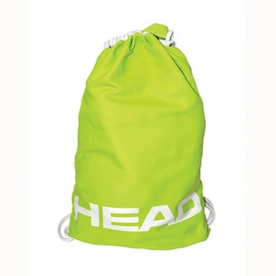 HEAD Adventure 2-in-1 Lightweight Storage Travel Backpack Super Soft Towel Draw String Beach Bag, Lime Green
