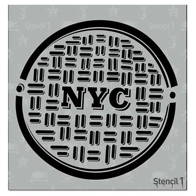 "Stencil1 NYC Manhole - Stencil 5.75"" x 6"""