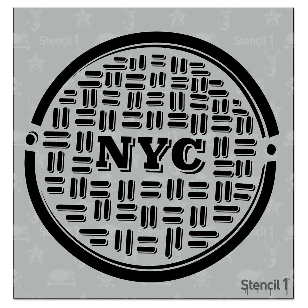 Stencil1 Nyc Manhole - Stencil 5.75