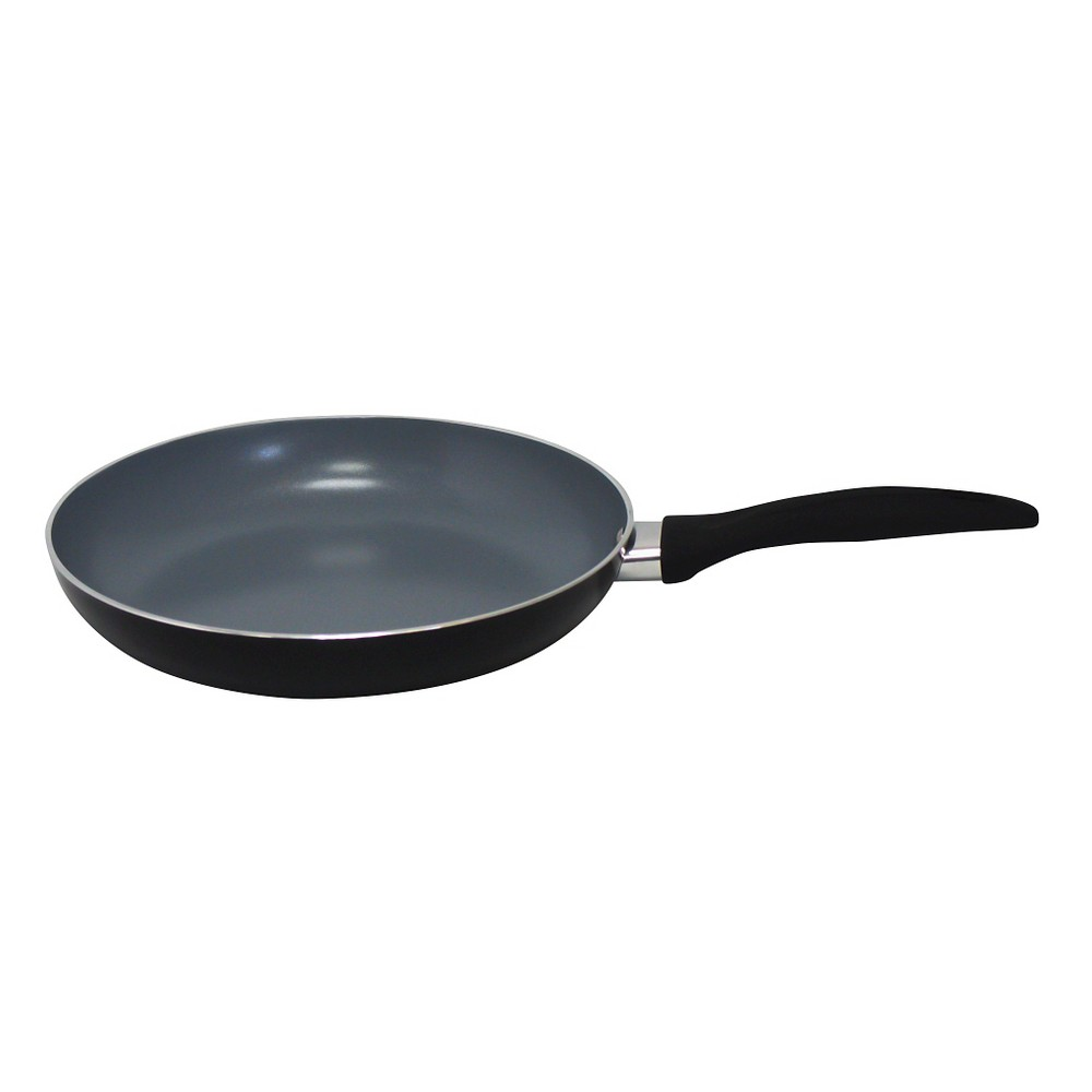 Image of Gourmet Chef 12 Inch Eco Friendly Non Stick Ceramic Fry Pan - Black