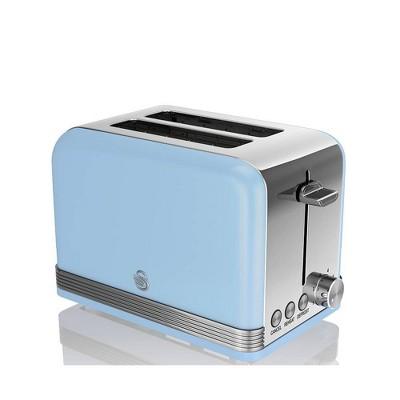 Salton Swan Retro 2-Slice Toaster - Blue