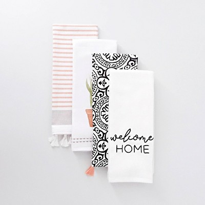 4ct Dish Towels 'Welcome Home' - Bullseye's Playground™