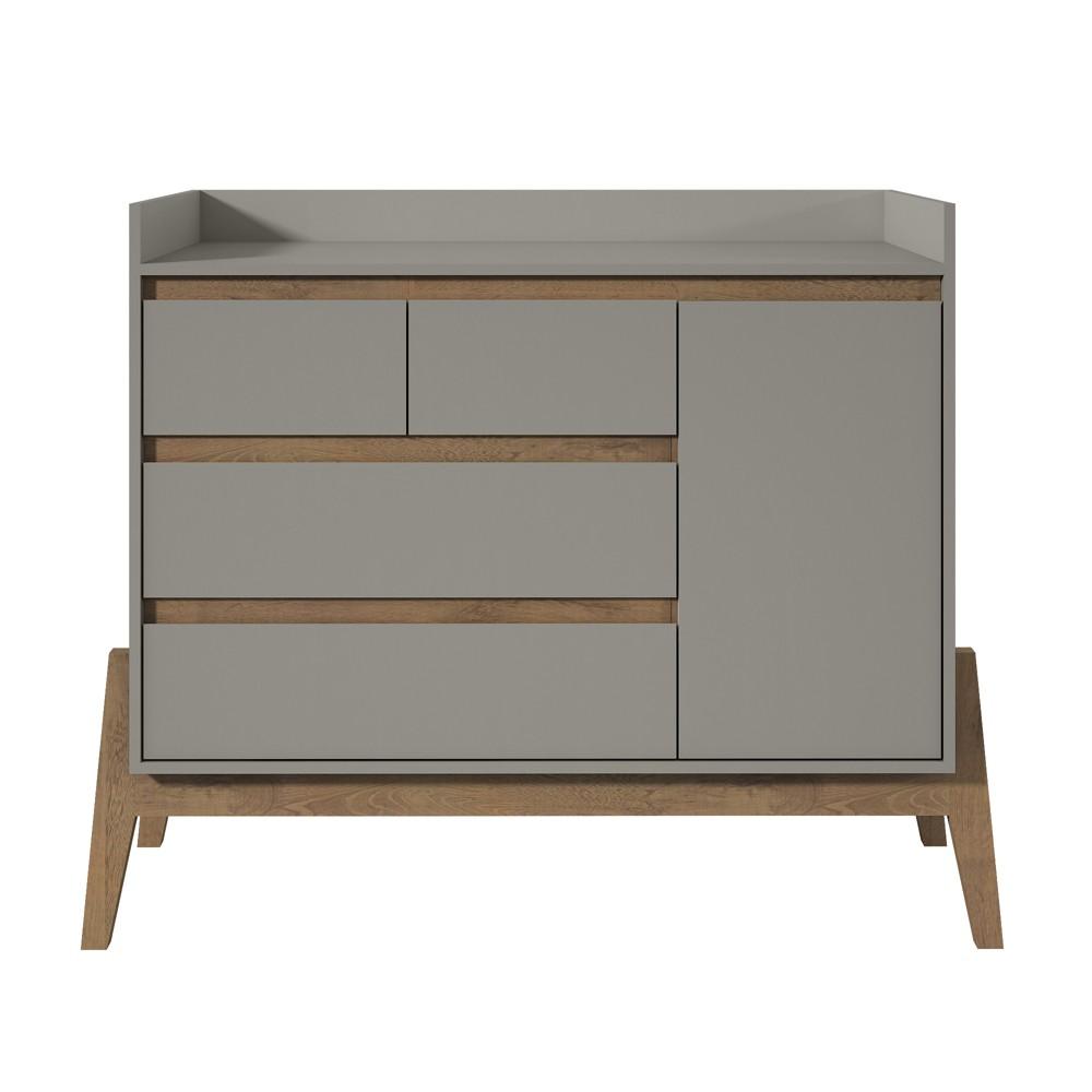 49 Essence Wide Dresser Gray - Manhattan Comfort