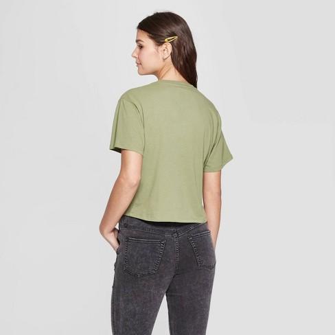 8e653b26 Women's Smokey Bear Short Sleeve Crewneck Babes in the Woods T-Shirt  (Juniors') - Light Green