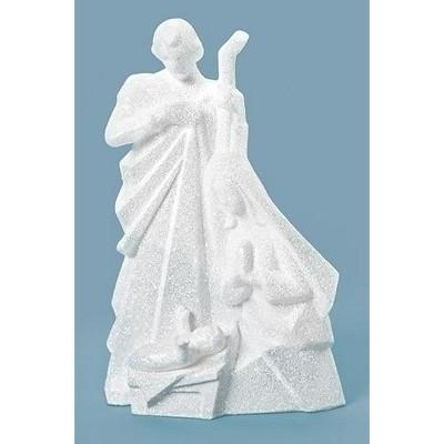 "Roman 7.5"" White Glittery Holy Family Christmas Nativity Figurine"