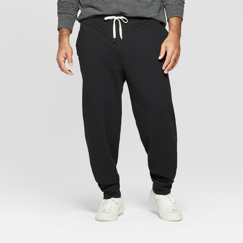 Men's Big & Tall Regular Fit Jogger Pants - Goodfellow & Co Black 3XBT