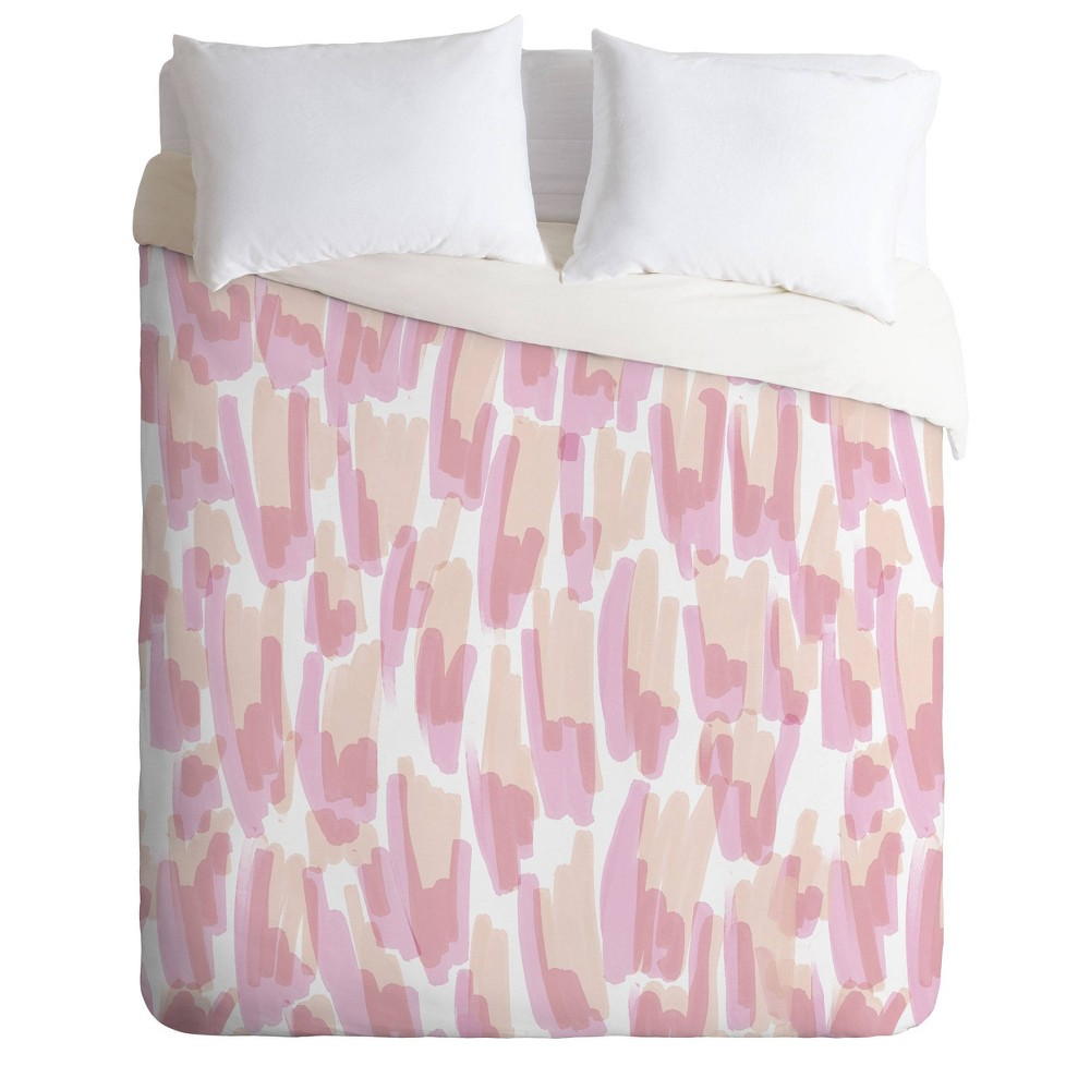 Image of Twin/Extra Long Twin Jacqueline Maldonado Twin Flames Brushstrokes Comforter Set - Deny Designs