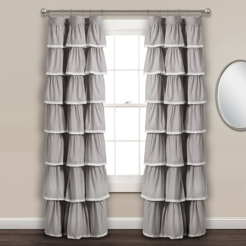 "52""x84"" Lace Ruffle Window Curtain - Lush Decor® - image 1 of 3"
