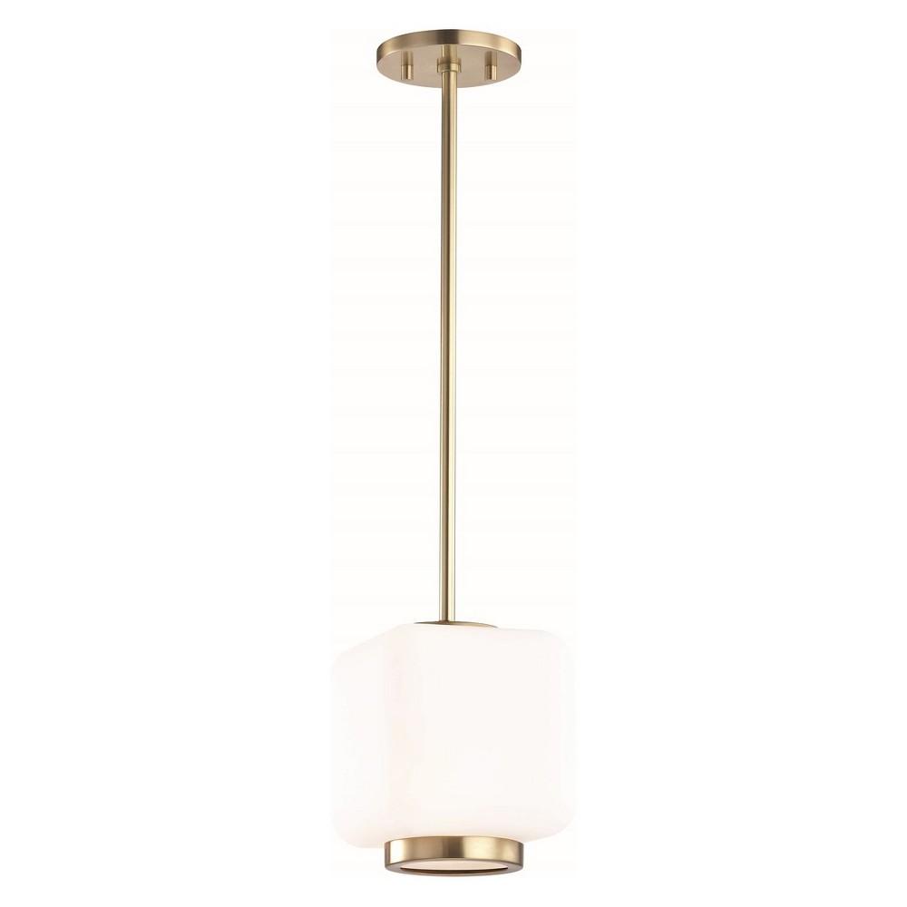1pc Jenny Small Light Pendant Brass - Mitzi by Hudson Valley