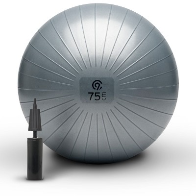 C9 Champion® Exercise Ball with Pump - Gray (75cm)