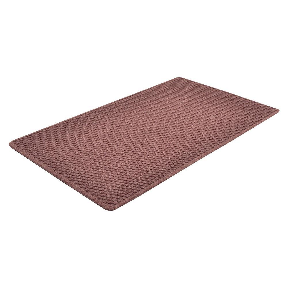 Image of Burgundy (Red) Solid Doormat - (4'X10') - HomeTrax