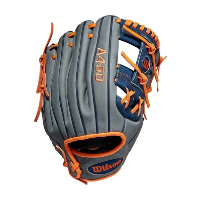 "Wilson A450 11.5"" Baseball Glove - Gray/Blue/Orange"