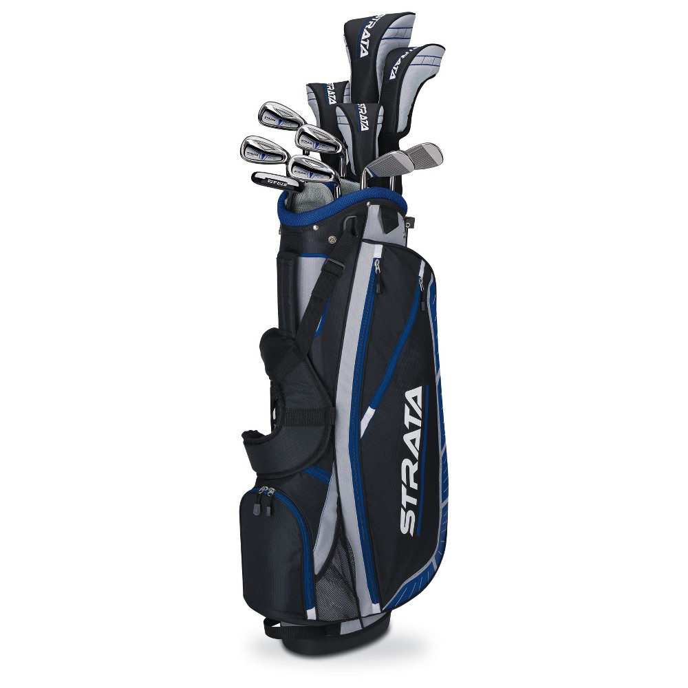 Strata Plus Men's Left Handed Golf Club Sets, Black