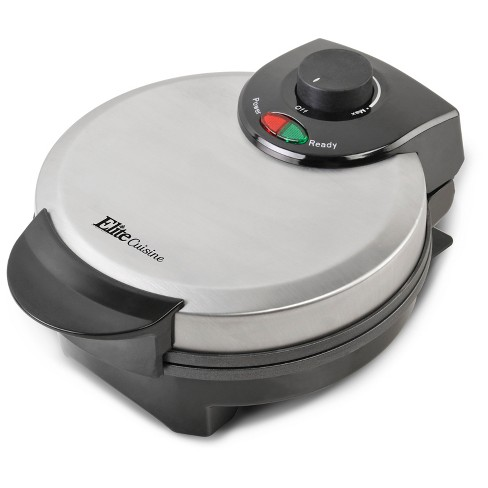 Elite Cuisine Belgian Waffle Maker - Black & Stainless Steel - image 1 of 4