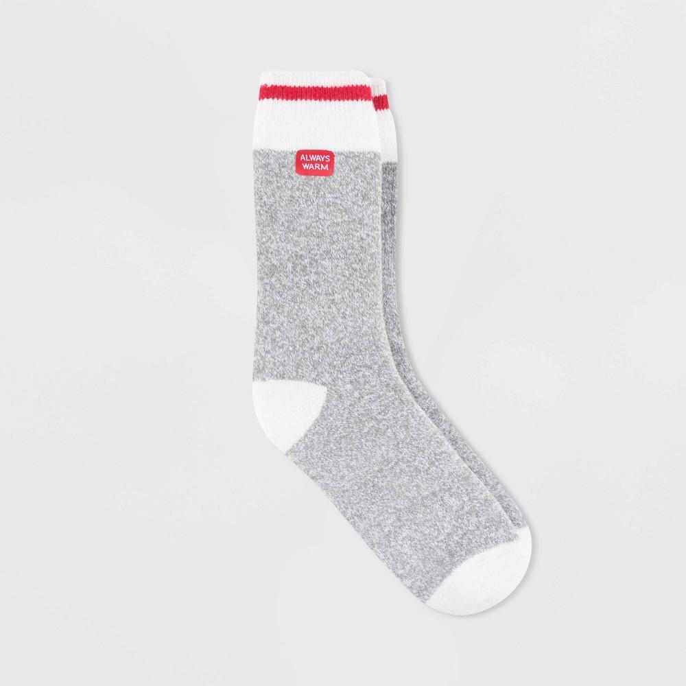 Image of Always Warm by Heat Holders Women's Warmer Block Twist Crew Socks - Gray 5-9, Size: Small