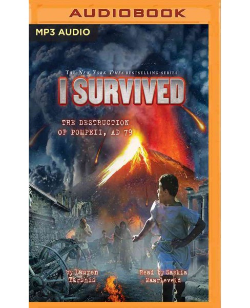 I Survived the Destruction of Pompeii AD 79 (MP3-CD) (Lauren Tarshis) - image 1 of 1