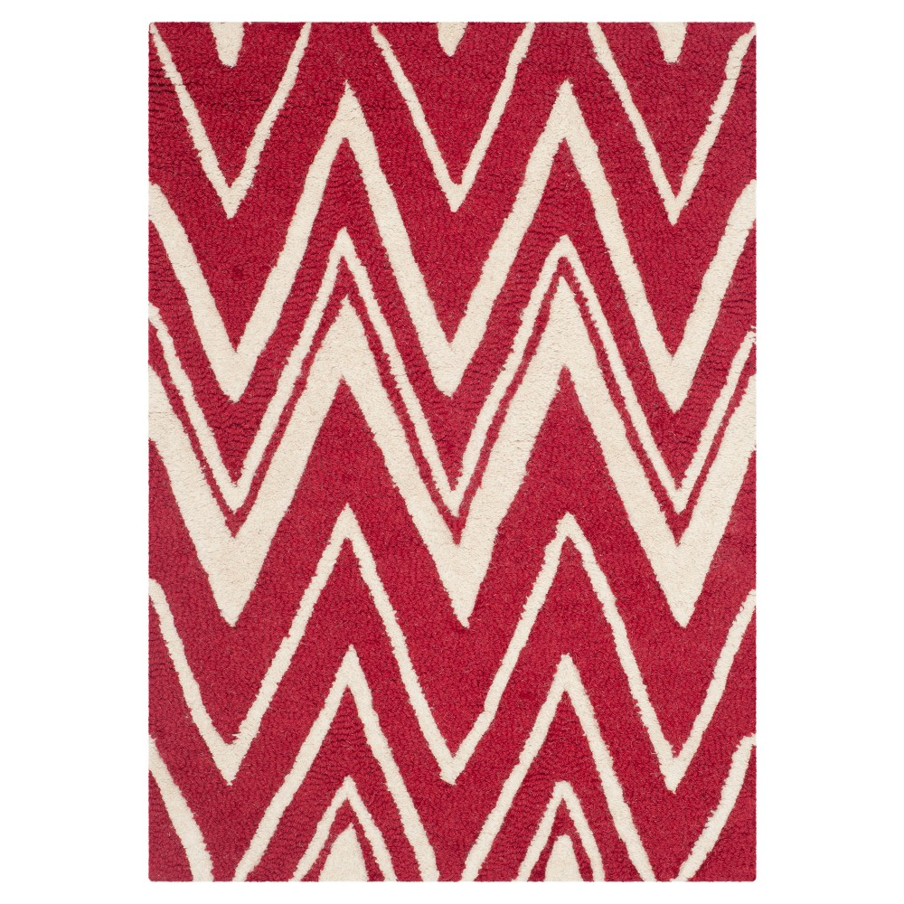 Burton Textured Rug - Red / Ivory (2' X 3') - Safavieh, Red/Ivory
