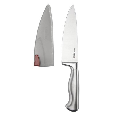 "Sabatier Stainless Steel Edgekeeper 8"" Chef Knife with Sleeve"