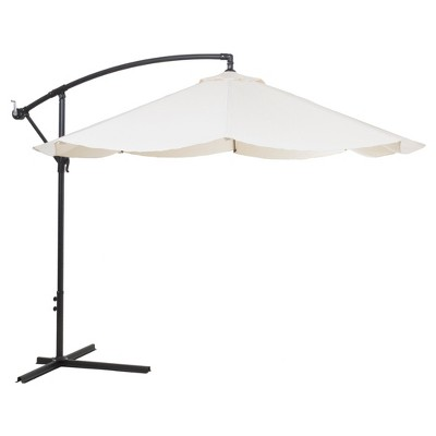 Offset 10' Aluminum Hanging Patio Umbrella - Off White - Pure Garden®