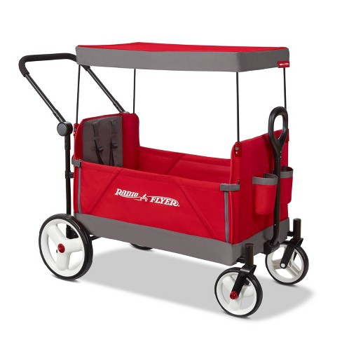 Radio Flyer Convertible Stroller Wagon with Canopy - image 1 of 4