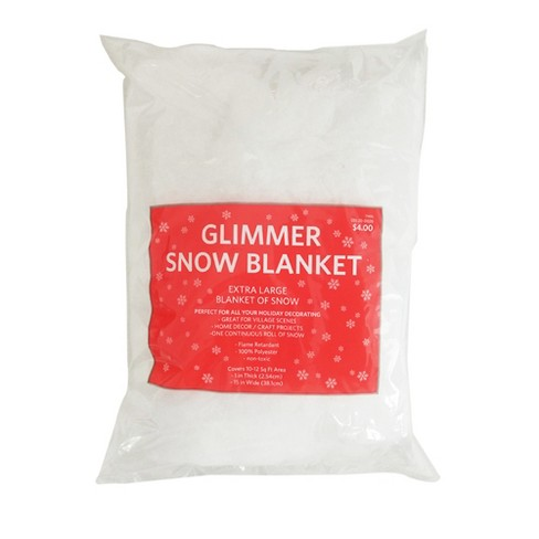 15in x 8ft Christmas Glitter Faux Snow Blanket - Wondershop™ - image 1 of 1