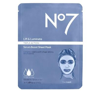 No7 Lift & Luminate Triple Action Serum Boost Face Mask Sheet - .73oz