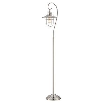 Lanterna II 1 Light Floor Lamp (Includes Light Bulb) Polished Steel - Lite Source