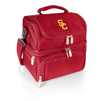 NCAA USC Trojans Pranzo Dual Compartment Lunch Bag - Red