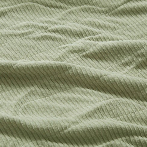 e30257df45 Knitted Micro Fleece Electric Blanket (Full) Sage - Beautyrest   Target